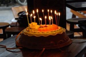 Verjaardagstaart in China